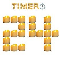 Micandle 24 Pack Battery Timer Tea Lights,6 Hours on and 18 Hours Off in... - $19.61