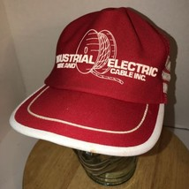 VTG 80s INDUSTRIAL ELECTRIC WIRE CABLE USA Side Strips Trucker Hat Cap s... - $93.95