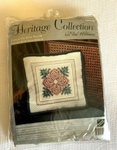Elsa Williams EVERLASTING ROSE PILLOW needlepoint kit, Heritage Collecti... - $27.69