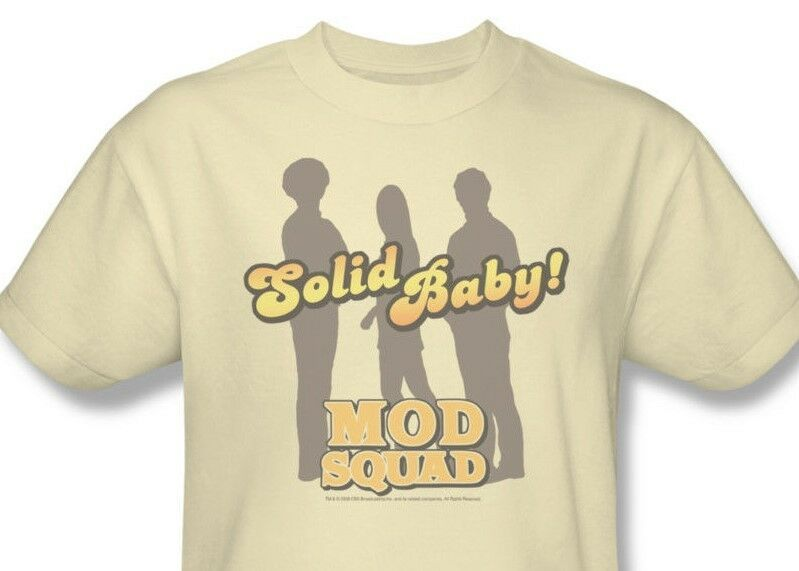 Mod Squad T-shirt retro 1970's disco TV Land show 100% cotton beige tee CBS226
