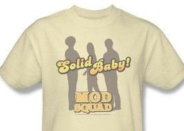 Mod Squad T-shirt retro 1970's disco TV Land show 100% cotton beige tee CBS226 image 1
