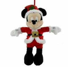 "Disney Parks Mickey Mouse Santa Plush Ornament Christmas Holiday 6"" - NWT - $14.84"
