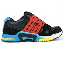 Vintage DC Shoes Aerotech 2 Mens Size 8 Red Black Blue Yellow AT-2 No Laces EUC - $56.09