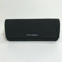 Dolce & Gabbana Eyeglasses Case Black Cloth Canvas Flap Semi Hard - $10.39