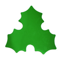 Holy Leaf Cutouts Plastic Shapes Confetti Die Cut 15 pcs  FREE SHIPPING - £5.31 GBP