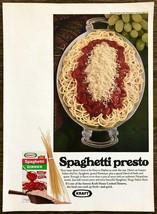 1970 Kraft Spaghetti Dinner PRINT AD Spaghetti Presto Serving Platter Grapes - $10.69