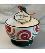 Serve One Another In Love Galatians 5:13 Dip Bowl & Spreader Set Ceramic... - $9.89