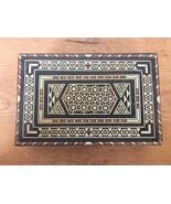 Vtg Moroccan Mosaic Inlay Mother Pearl Bone Marquetry Wood Trinket Jewel... - $125.00