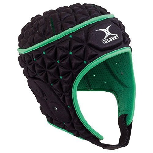 Gilbert Ignite Headguard - Black/Green (Large)