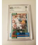 1990 Topps Dan Marino Miami Dolphins #323 Football Card BCCG 10 GEM MINT Beckett - £12.80 GBP