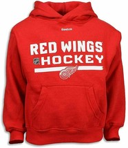 Detroit Red Wings Pre-School Boy's Reebok Hoodie Red Hoosed Sweatshirt sz 4 - $8.86