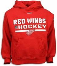 Detroit Red Wings Pre-School Boy's Reebok Hoodie Red Hoosed Sweatshirt sz 4 - $8.86
