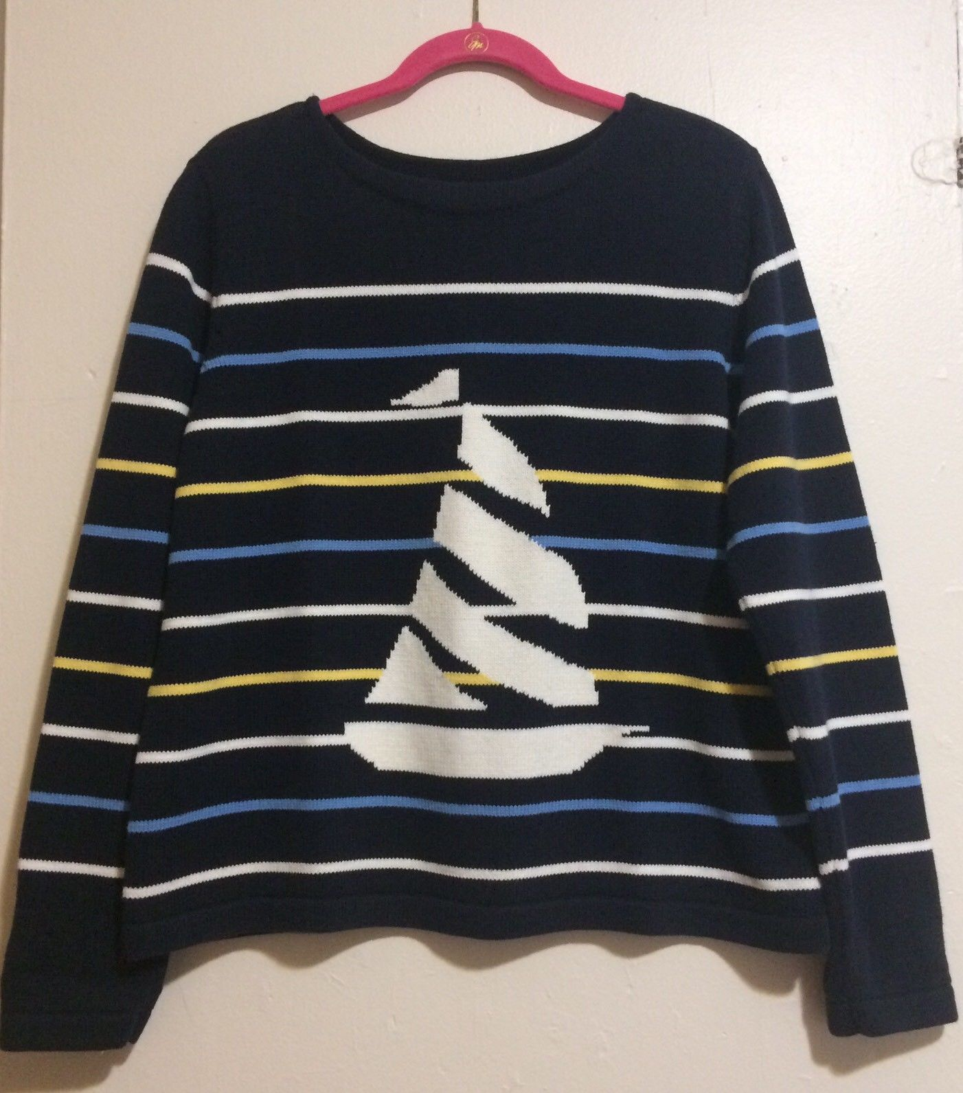 Crazy Horse Nautical Sweater Navy Blue White and 15 similar items