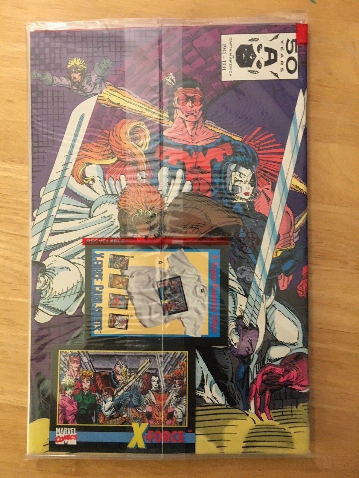 X-Force #1 1991 Marvel Comic Book NM 9.2 Condition X-Force Trading Card Bagged