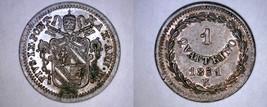 1851-VIR Italian States Papal States 1 Quattrino World Coin - Pius IX - $79.99