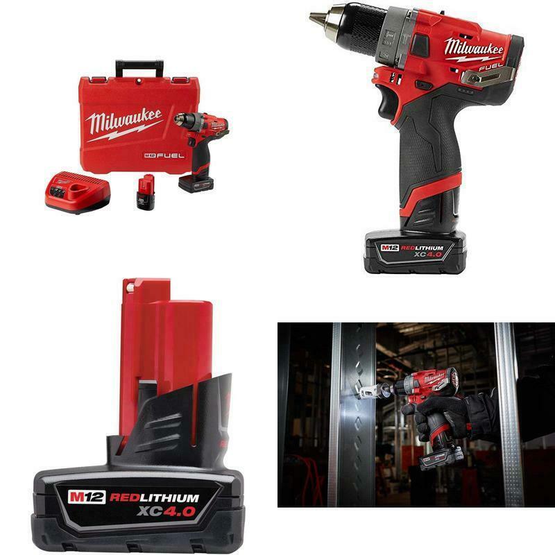"Milwaukee Electric Tools 2504-22 M12 Fuel 1/2"" Hammer Drill Kit - $205.90"