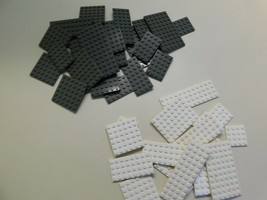 Lot of 39 LEGO Base Plates Slate Gray And White Various Sizes - $19.79