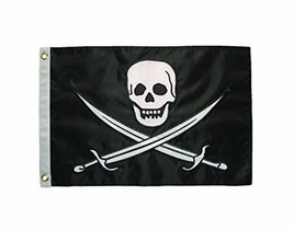 """In the Breeze Calico Jack Applique Grommeted Boat Flag - 12"""" x 18"""" - NEW/SEALED - $8.64"""