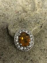 Vintage Real Faceted Orange Fire Opal 925 Sterling Silver Stud Earrings - $106.49