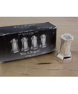 Vtg Wm. A. ROGERS Salt & Pepper Shakers Silverplate Set w/ Box Japan Oneida - $12.73