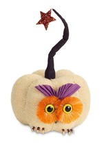 "Melrose 10"" Cream Orange & Purple Burlap Owl Pumpkin Star Autumn Table D... - $18.50"