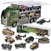 JOYIN 10 in 1 Die-cast Military Truck Army Vehicle Mini Battle Car Toy T... - $39.09
