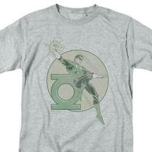 Green Lantern T-shirt retro 80s DC comic book cartoon superhero grey tee DCO603 image 1
