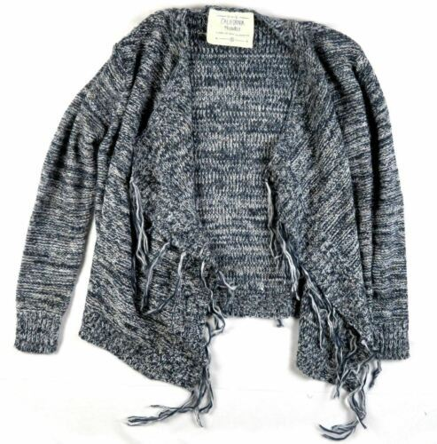 Small Women's California MoonRise Sweater Open Front Navy Mix