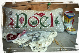 R-122 Noel Christmas chart + charms cross stitch chart Rovaris   - $12.00