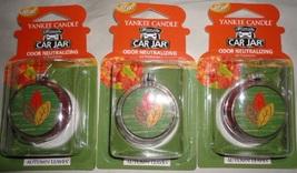 4 new yankee candle ultimate car jar air freshener autumn leaves LE - $13.00