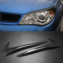 Carbon Fiber Car Headlight Cover Eyebrows Eyelid Trim For Subaru Impreza... - $48.50