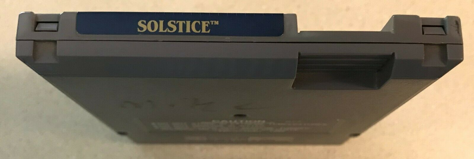 Solstice : The Quest for the Staff of Demnos (Nintendo NES, 1990) Game Cartridge image 4