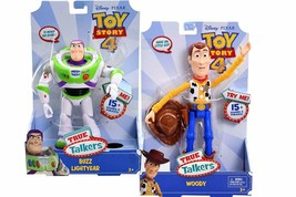 Disney Pixar Toy Story 4 True Talkers Talking Woody & Buzz Lightyear Lot... - $59.99