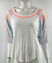 We The Free People Top Small Blue White Orange Embroidered Loose Fit Dol... - $39.60