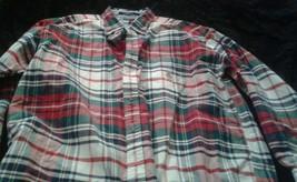 Vtg 90's Tommy Hilfiger Button Down Plaid Long Sleeved Dress Shirt  Sz Xl - $34.64