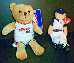 Cleveland Indians Ty Beanie Wahoo Wally Retired MLB & Cavs Plush Bear in... - $28.01