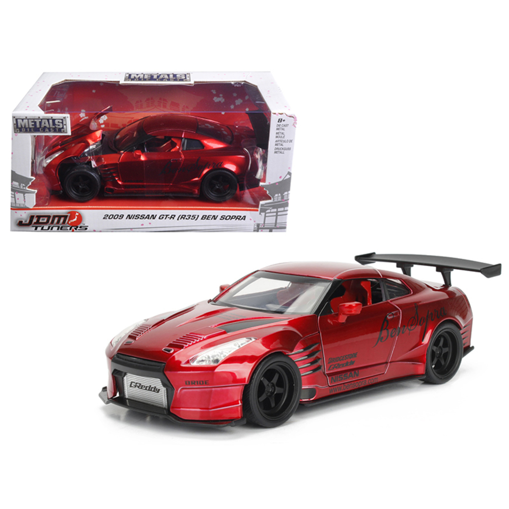 2009 Nissan GT-R (R35) Ben Sopra Red JDM Tuners 1/24 Diecast Model Car  by Jada
