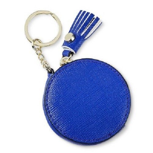 Primary image for Women's Merona Indigo Round Key Chain Coin Purse With Zipper Pocket