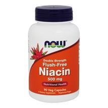 NOW Foods Niacin Flush-Free Double Strength 500 mg., 90 Vegetarian Capsules - $16.39