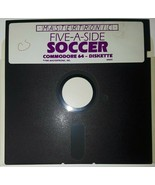 "Commodore 64 Five-A-Side Soccer Mastertronic C64 5.25"" floppy disk 1985 - $10.29"