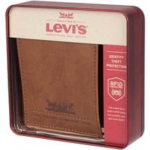 Levi's Men's RFID Extra Capacity Traveler Credit Card ID Bifold Tan Wallet (Tan) image 2