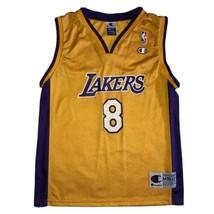 Kobe Bryant Youth Medium Champion NBA Basketball Jersey Los Angeles Lake... - $93.49