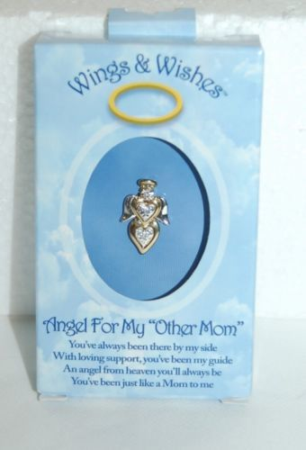 DM Merchandising Wings Wishes Other Mother Angel Silver Gold Colored Heart