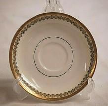 Vintage Haviland Demitasse Saucer Geometric Designs Gold Trim Limoges Fr... - $12.86