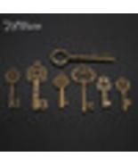 KiWarm 7pcs Antique Vtg old look Ornate Skeleton Keys - $11.95