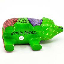 Handmade Alebrijes Oaxacan Copal Wood Carving Painted Folk Art Bear Figurine image 5