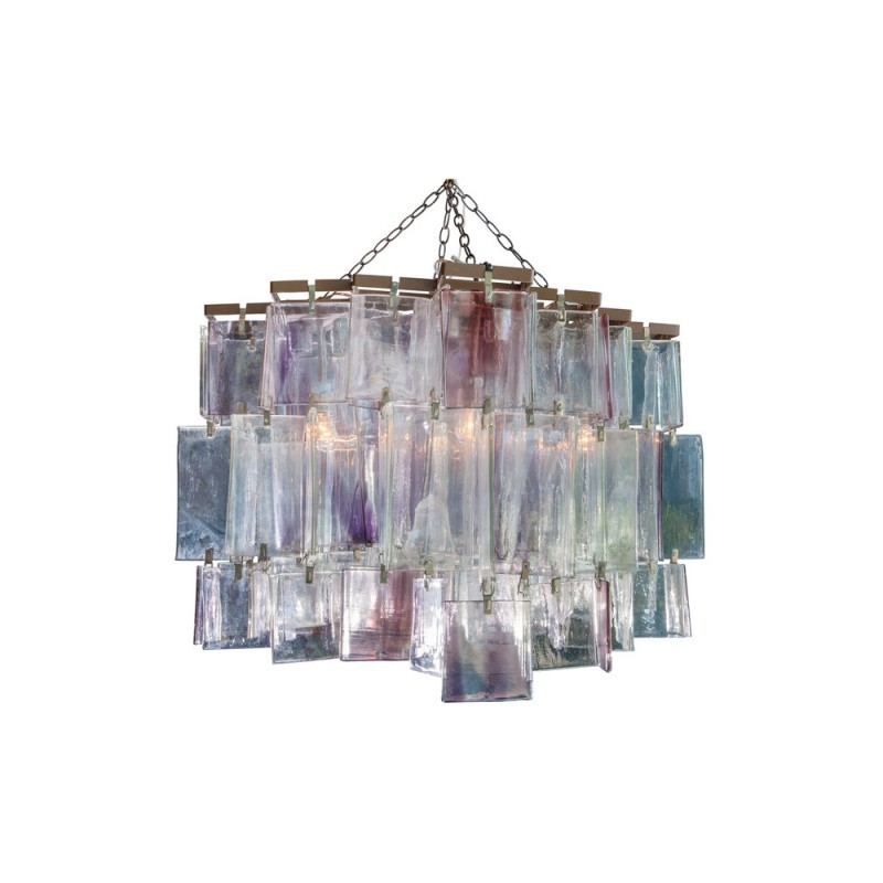 Primary image for SJ2050 1980S AMETHYST MURANO CRYSTAL CHANDELIER