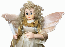 White Angel Animated Motionette Holiday Figure & Lighted Candle Pearl Cr... - $125.00