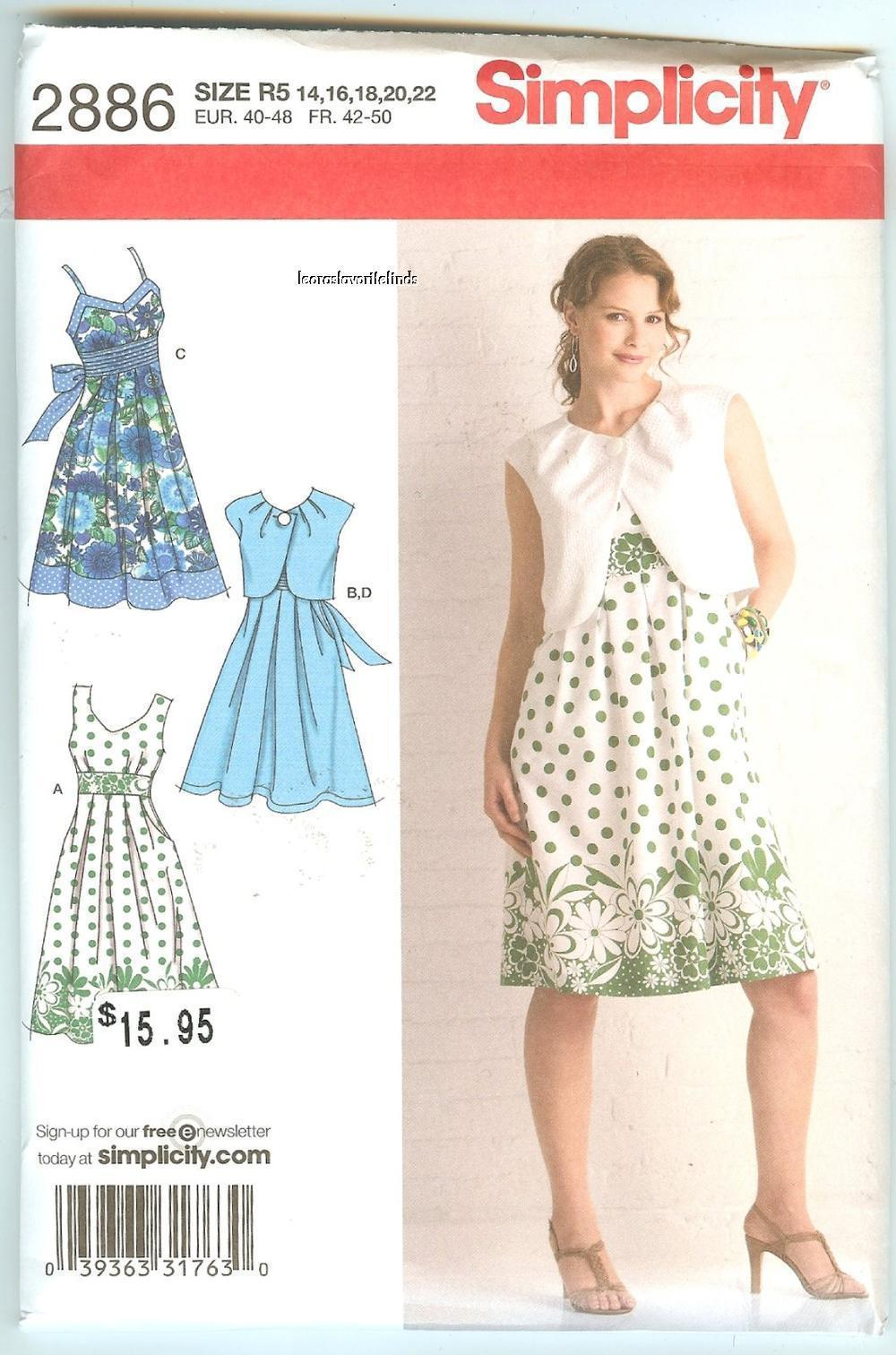Simplicity 2886 Sewing Pattern: 1 listing