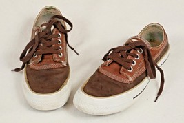 Converse All Stars Brown Leather Sneakers Unisex Shoes Men's Sz 5.5 Women's 7.5  - $22.76